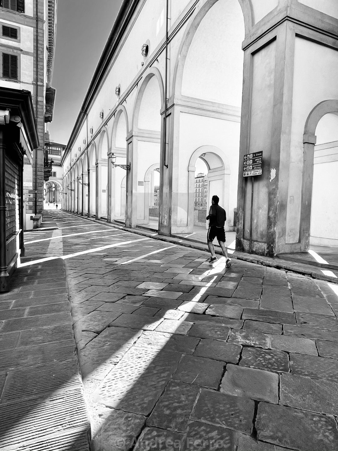 """A morning run in a deserted Florence"" stock image"
