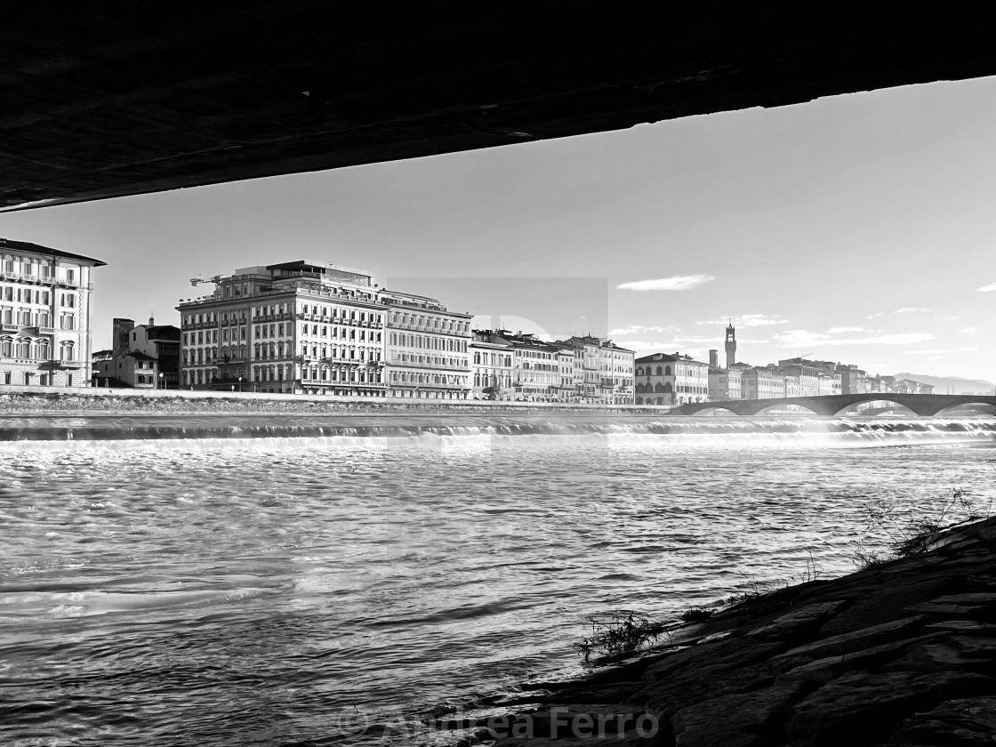 """Florence by the Arno river"" stock image"
