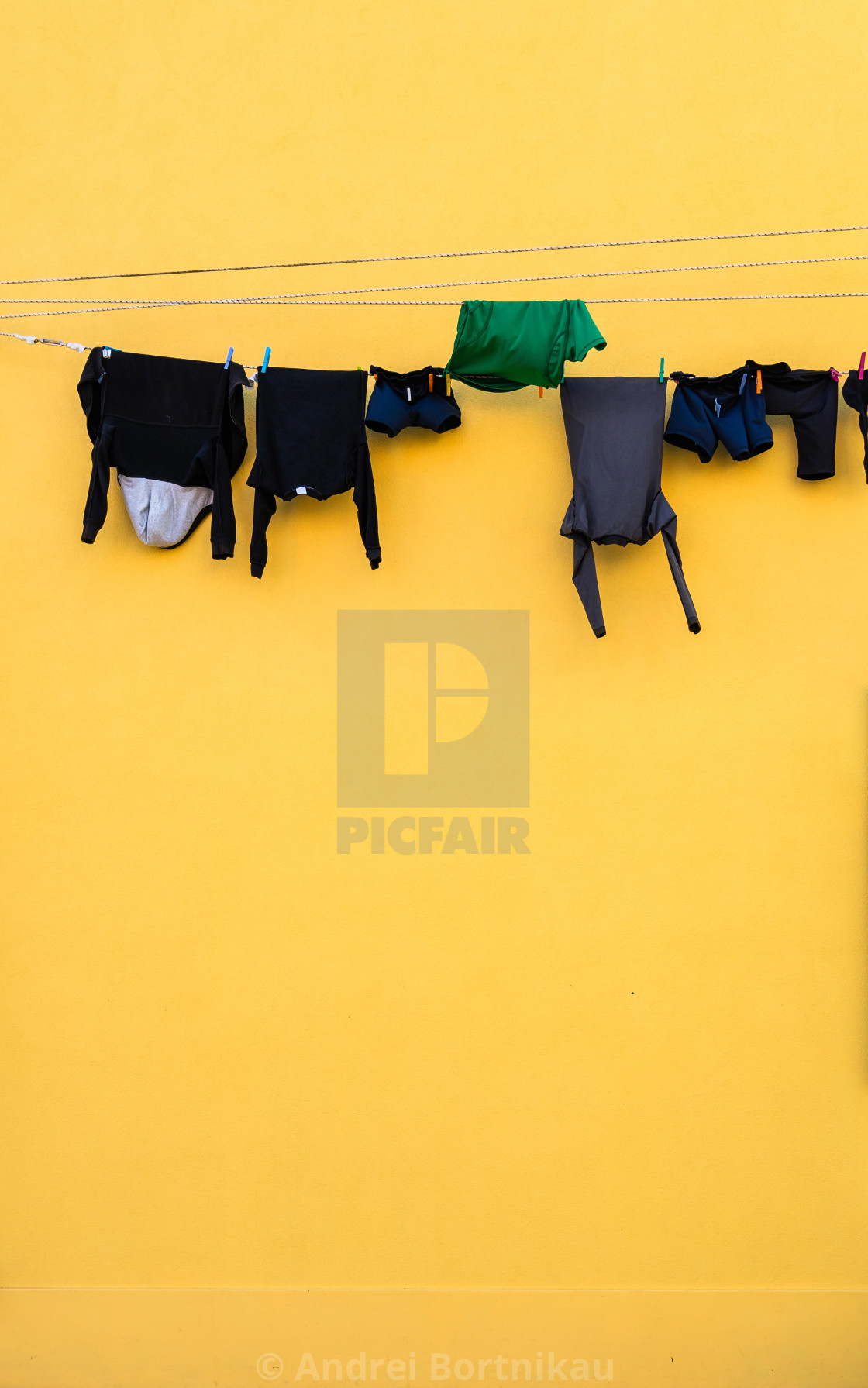 """""""Laundry on line house facade"""" stock image"""