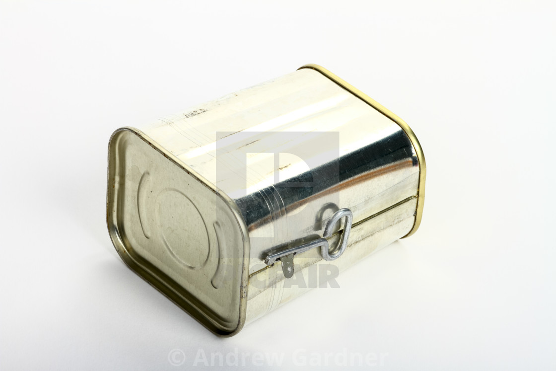 """""""Corned beef tin isolated on a white background"""" stock image"""