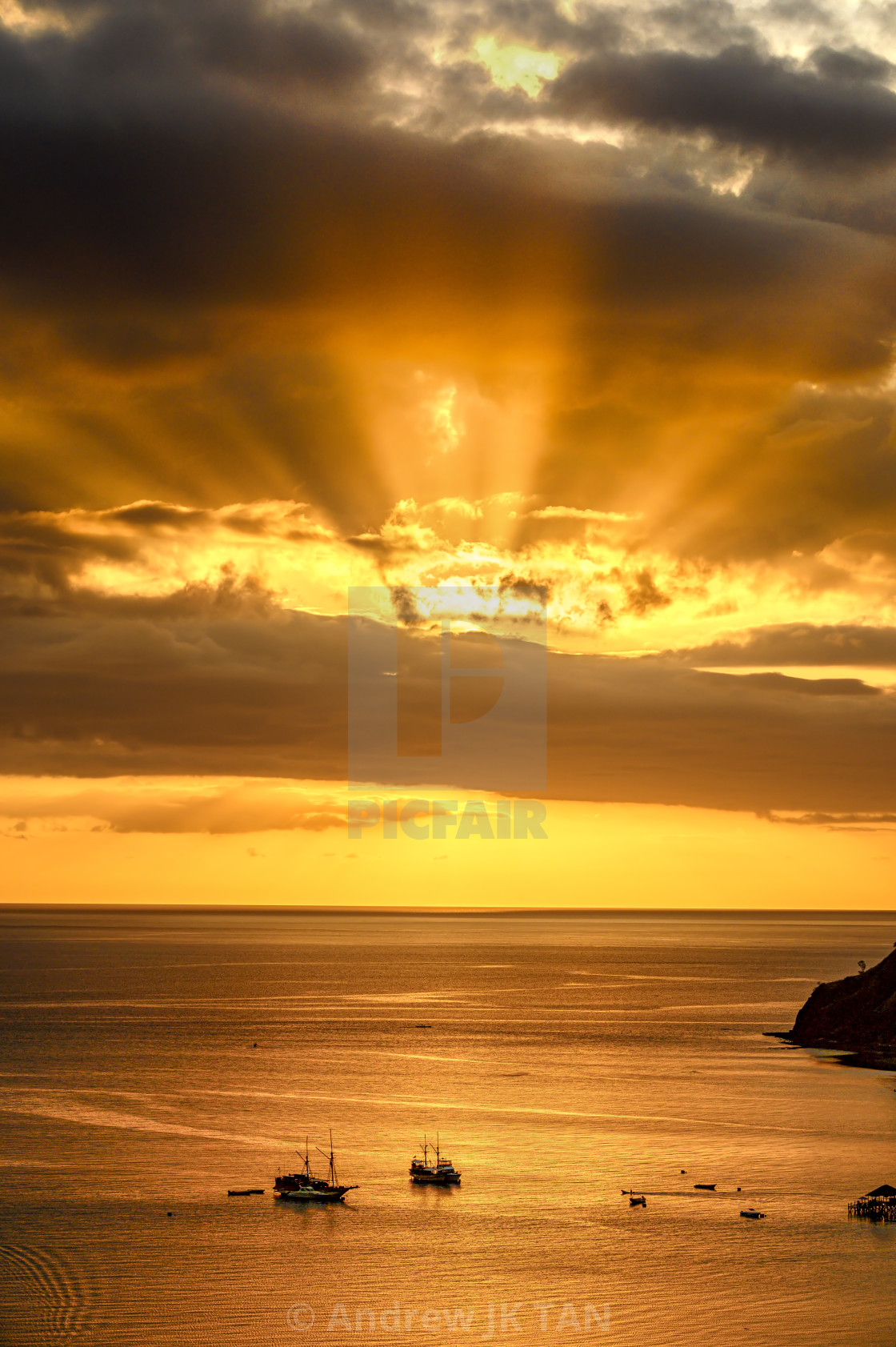 """Sunset Beams"" stock image"