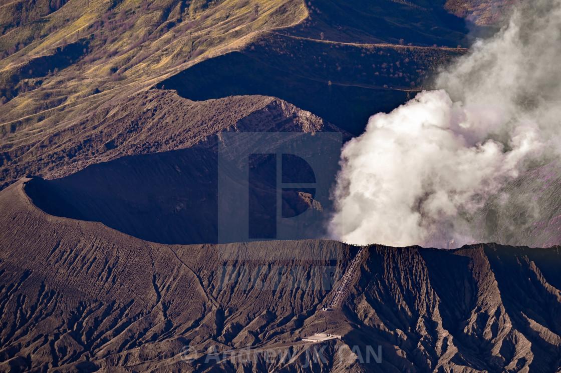 """Mount Bromo Staircase"" stock image"