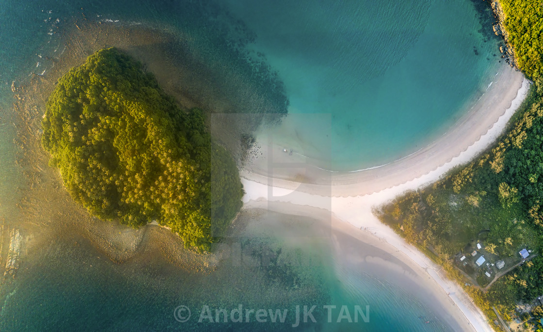 """Island with two beaches 01"" stock image"