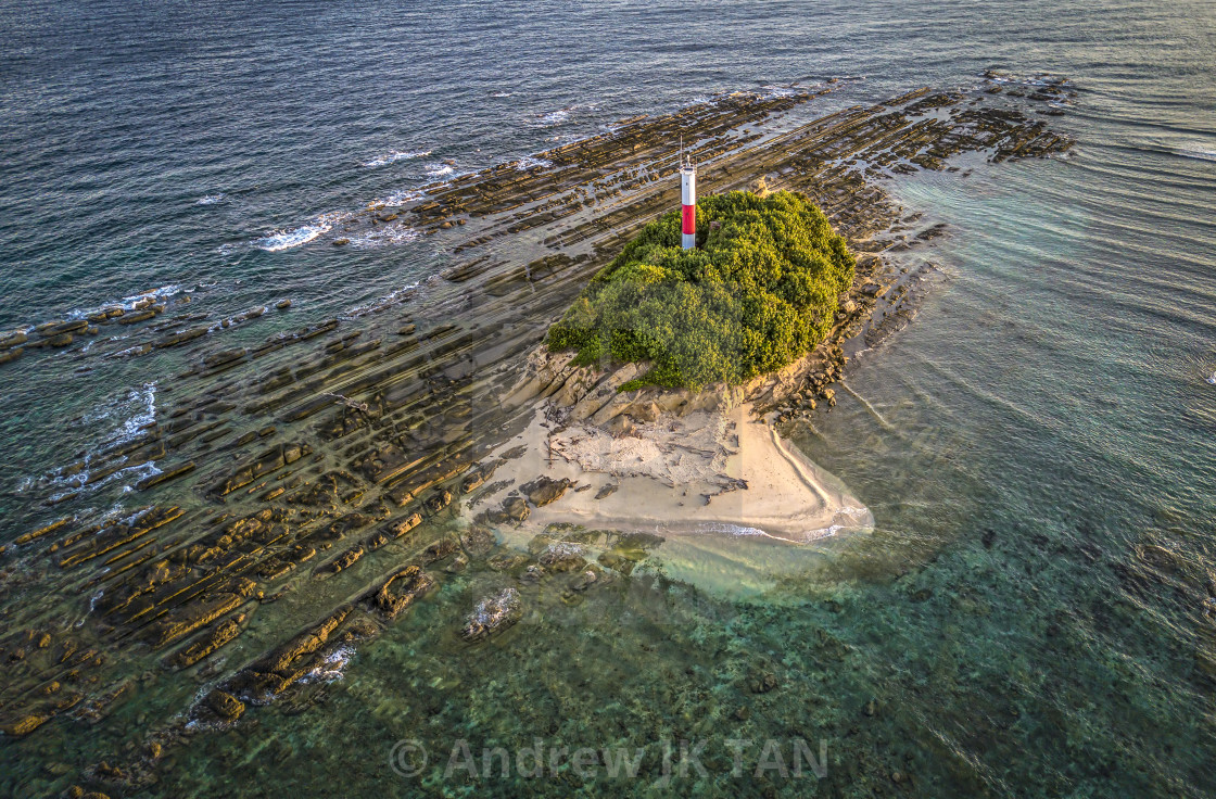 """Lighthouse off the Tip of Borneo 02"" stock image"