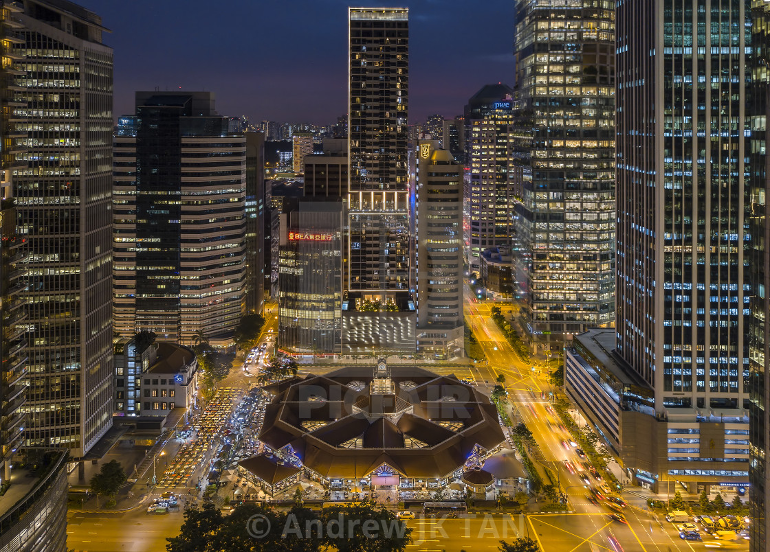 """""""Lau Pa Sat Market Cityscape"""" stock image"""