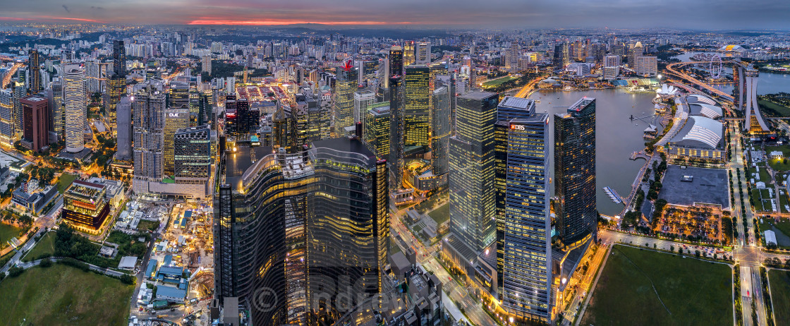 """Singapore Cityscape Panorama 01"" stock image"