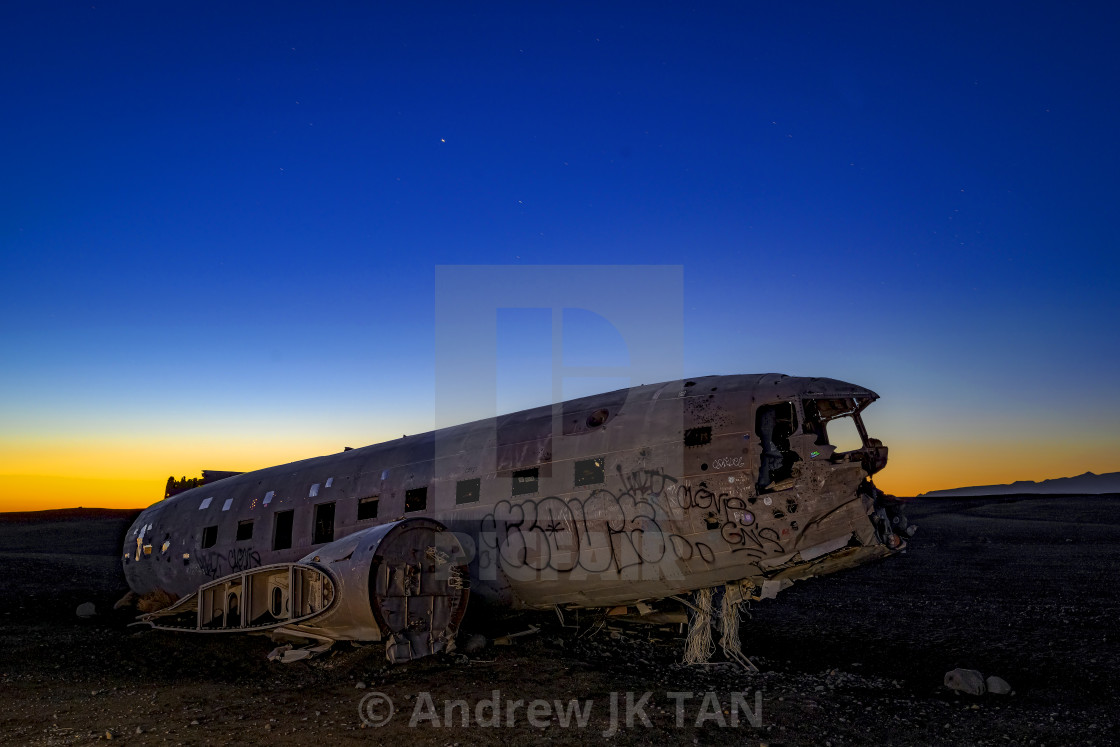 """DC3 Wreck 01"" stock image"