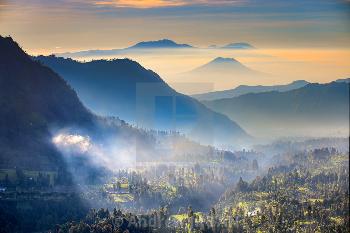 """Landscape view from Cemoro Lawang"" stock image"