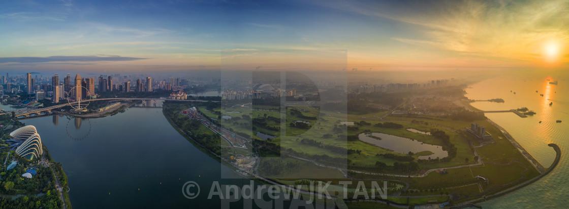 """""""Singapore Panorama 01"""" stock image"""