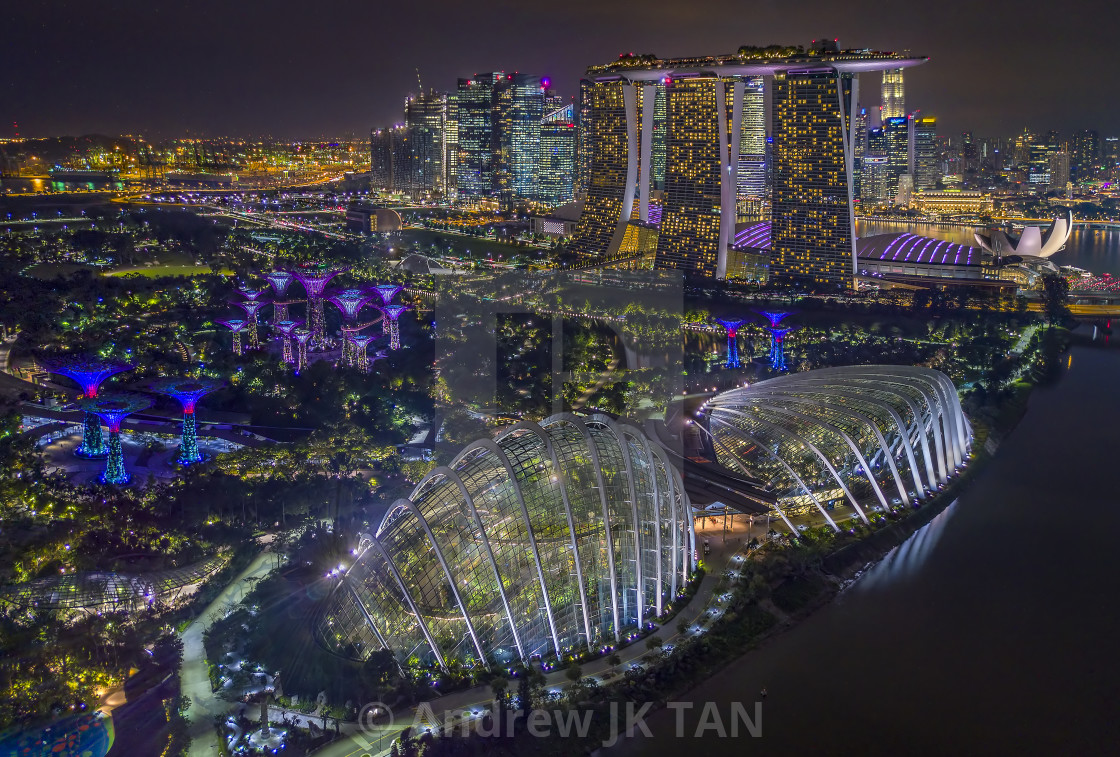 """Gardens By The Bay at Night 02"" stock image"