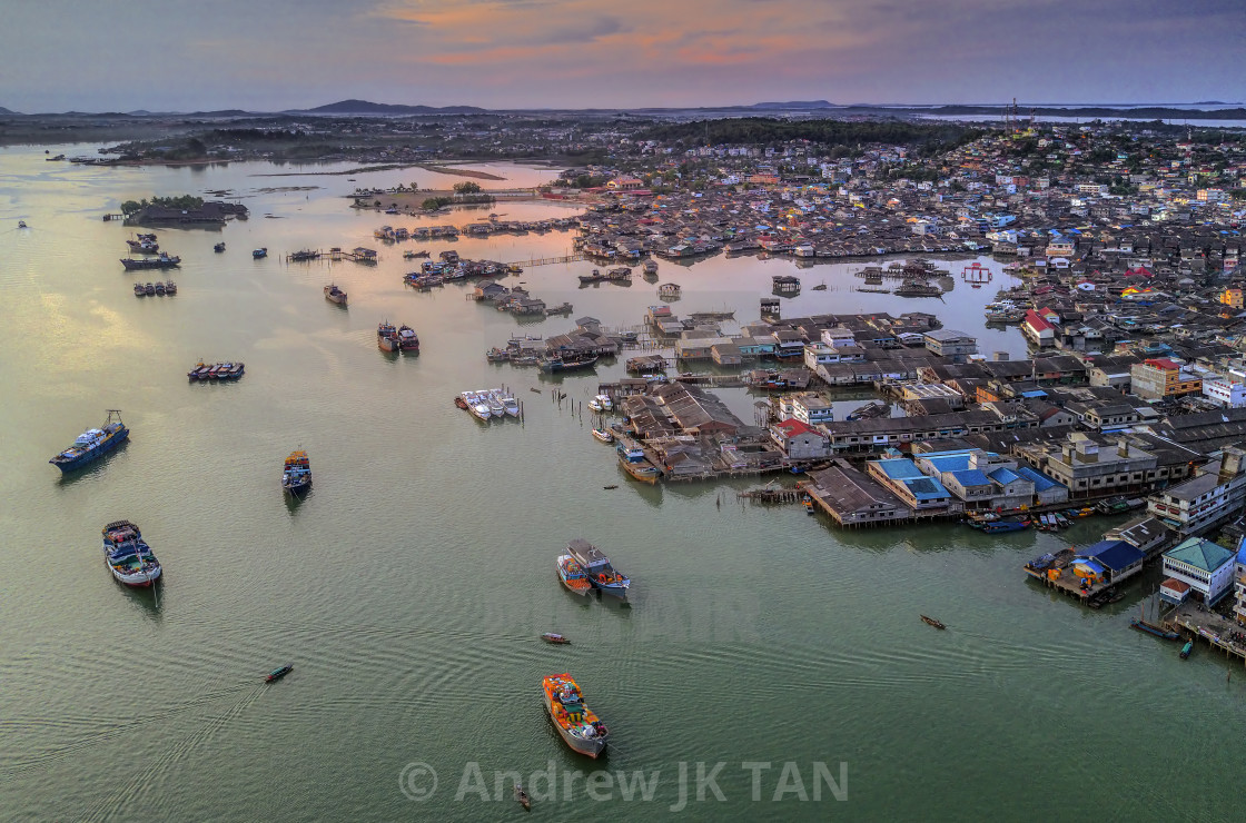 """""""Tanjung Pinang View from the Sky 01"""" stock image"""