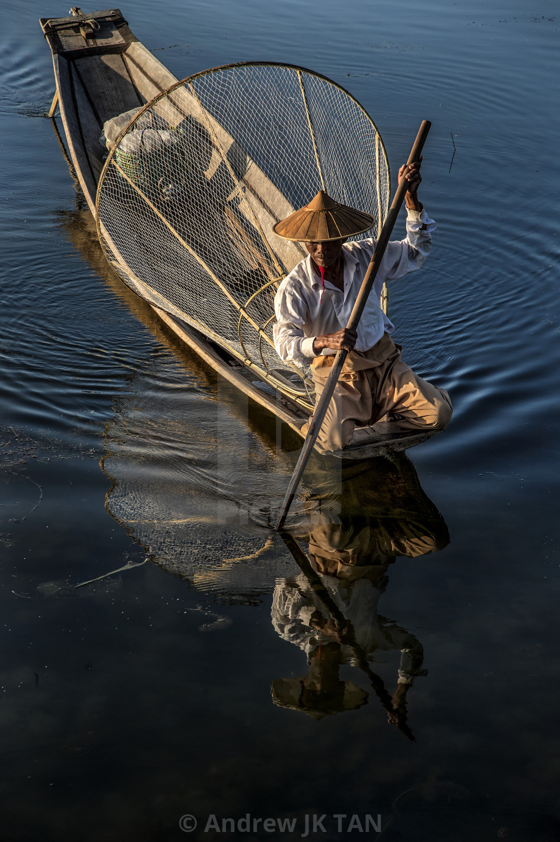 """Inle Boatman 01"" stock image"