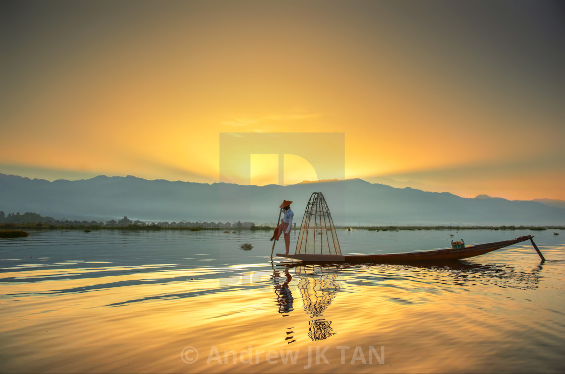 """Inle Boatman 06"" stock image"