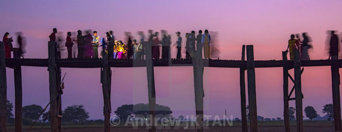 """U Bein Bridge 03"" stock image"