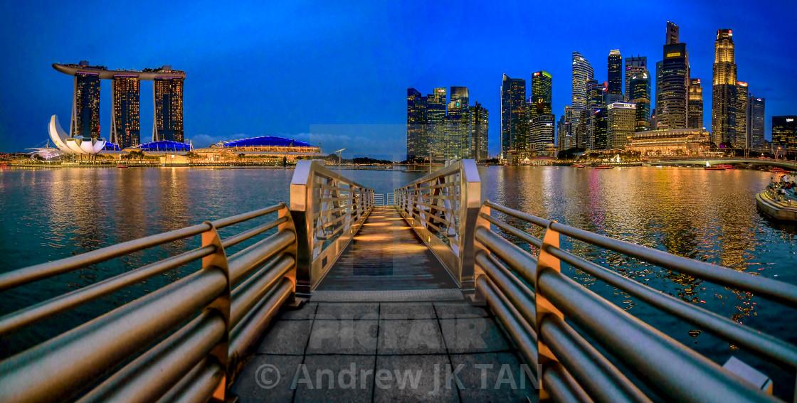 """""""Marina Bay Jetty 01"""" stock image"""