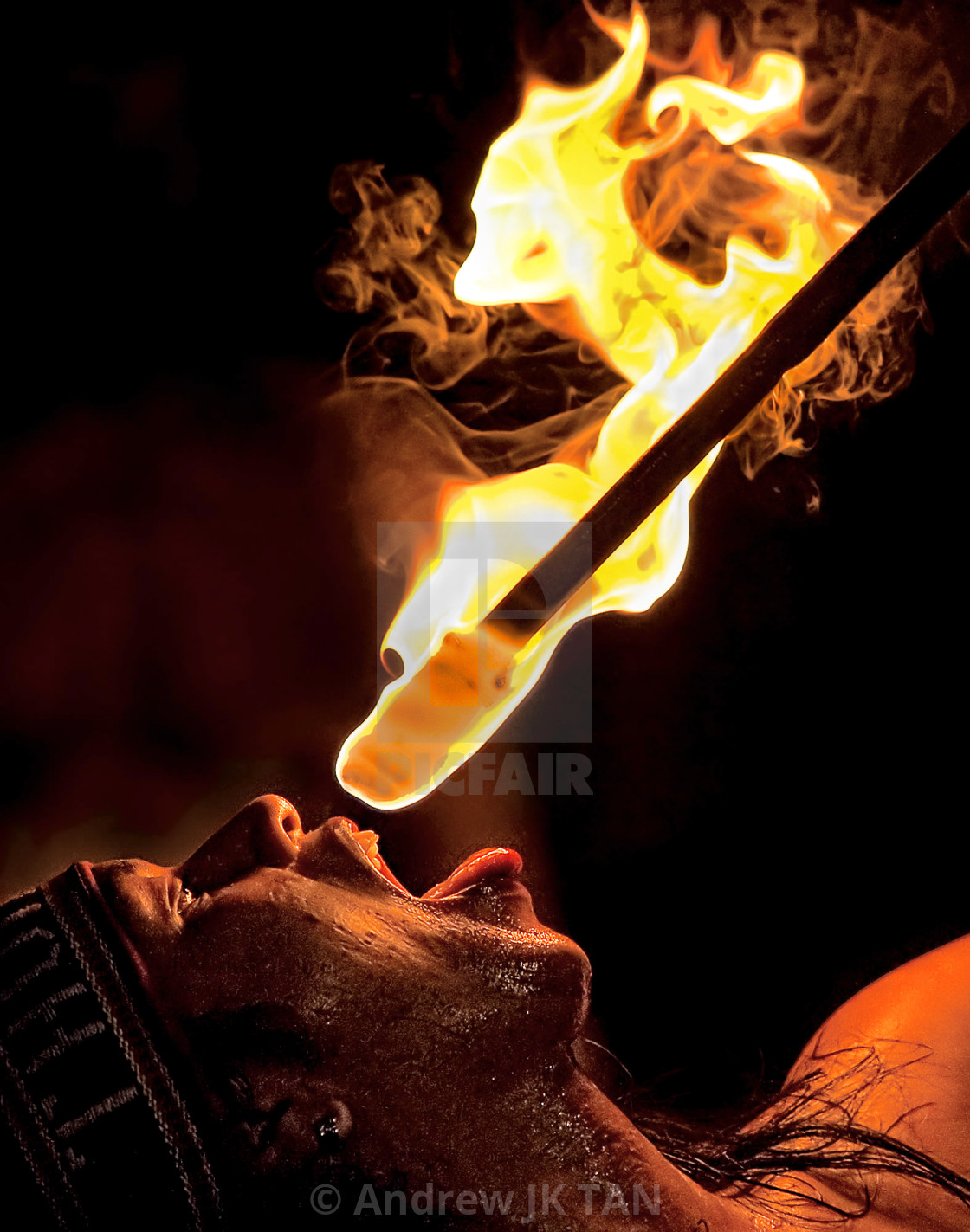 """Fire Eater 02"" stock image"
