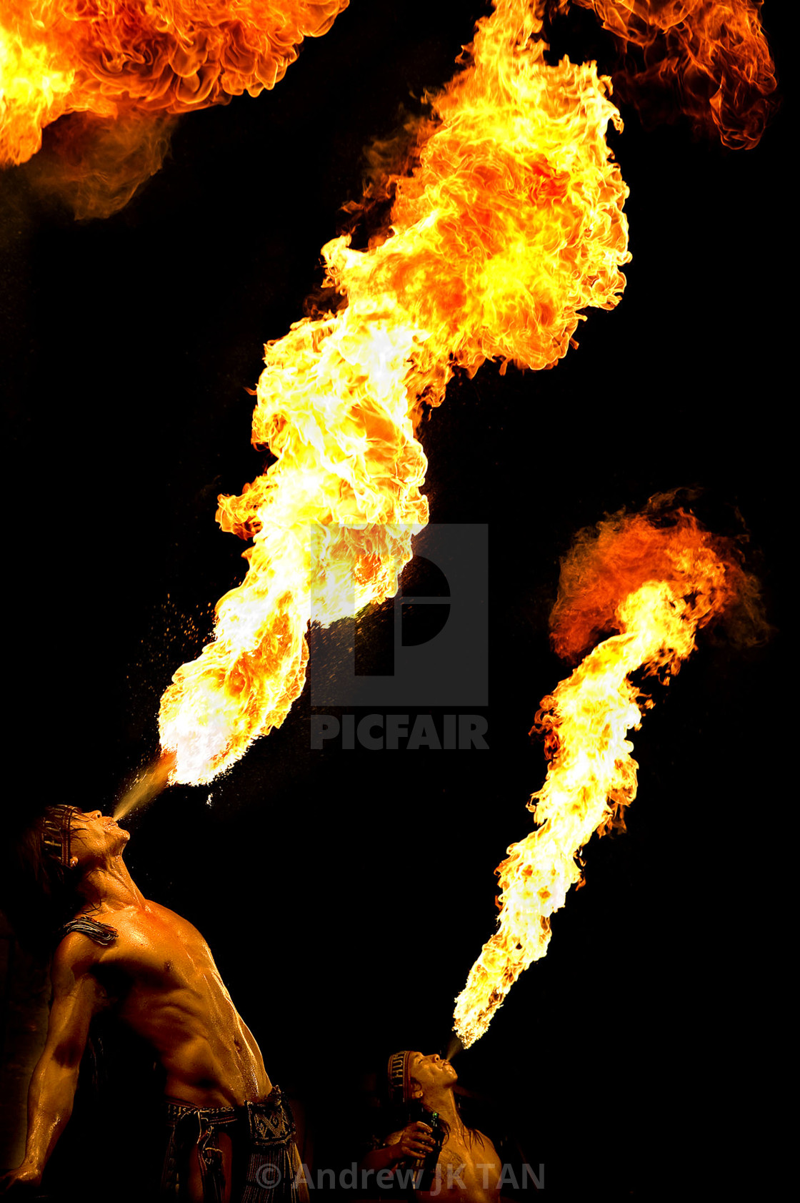 """""""Fire Breather 03"""" stock image"""