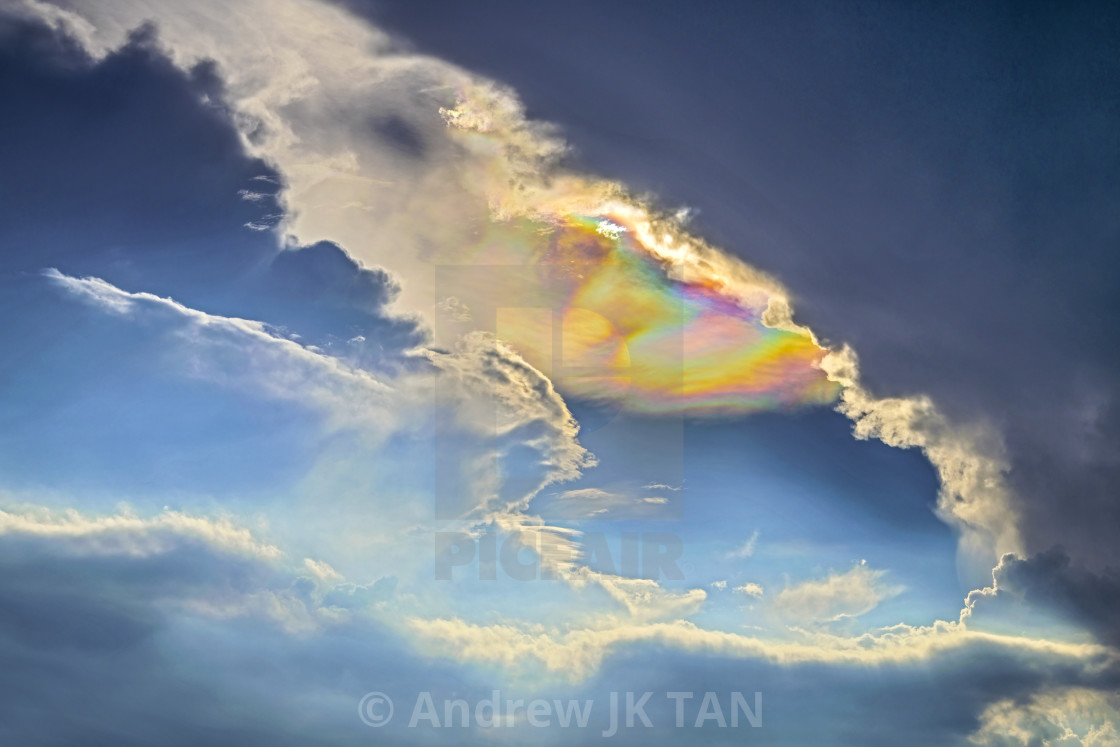 """Cloud Iridescence"" stock image"