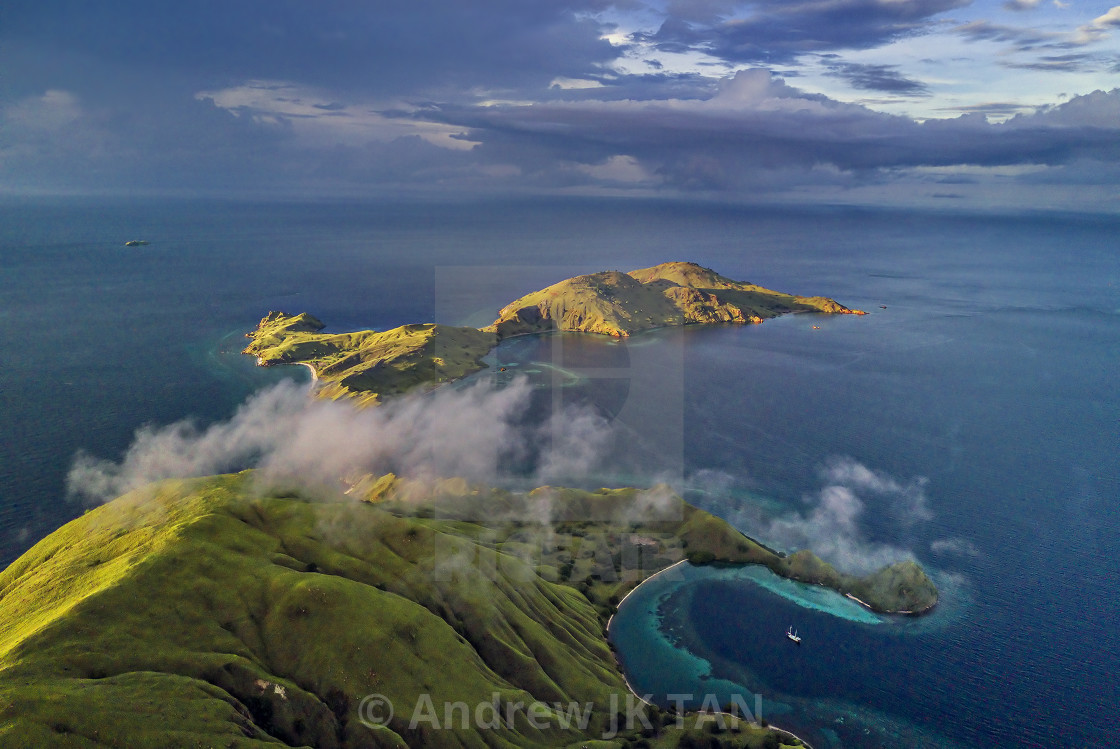 """Aerial view from Gililawa Island 01"" stock image"