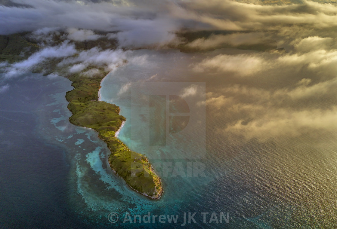 """""""Aerial view from Gililawa Island 03"""" stock image"""