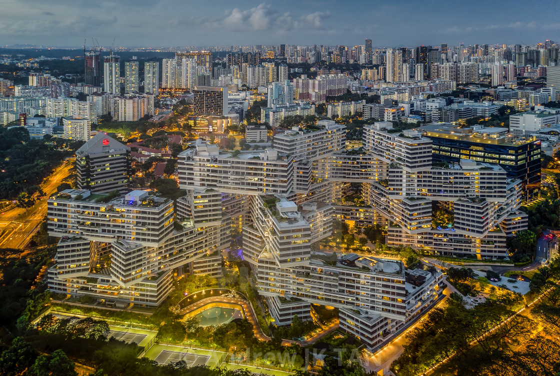 """The Interlace Apartments"" stock image"