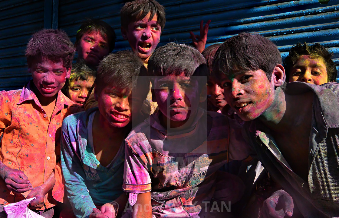 """Colors of HOLI 09"" stock image"