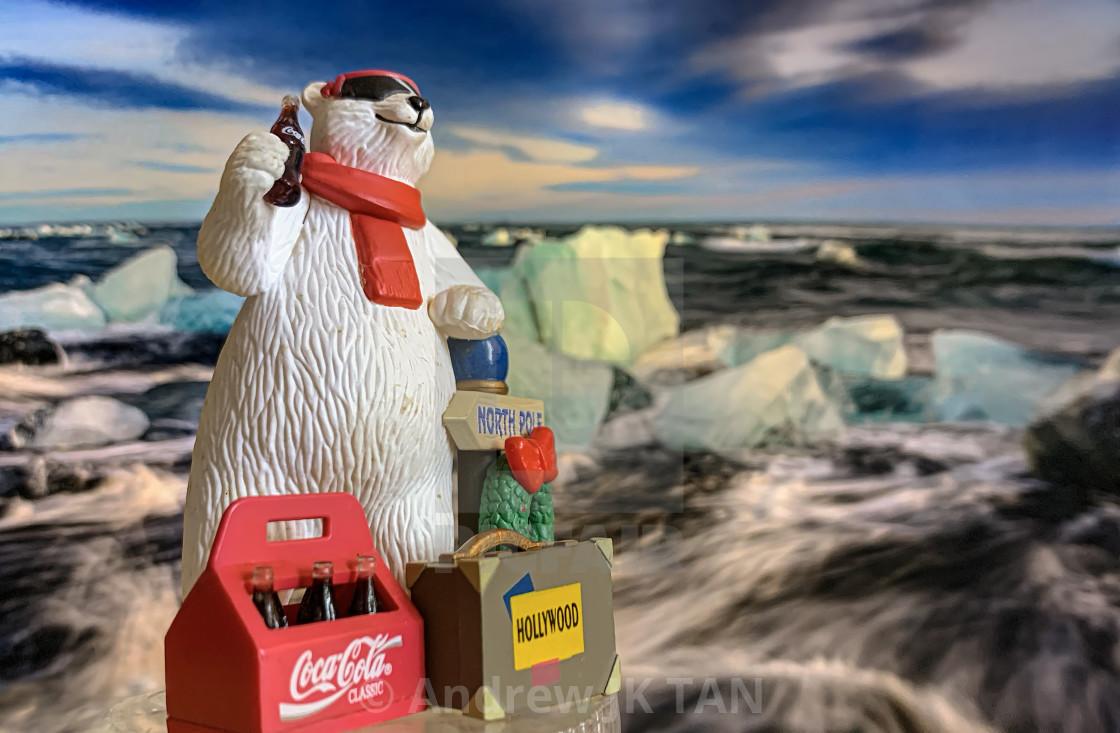 """""""Coca Cola Polar Bear Collectible 02"""" stock image"""
