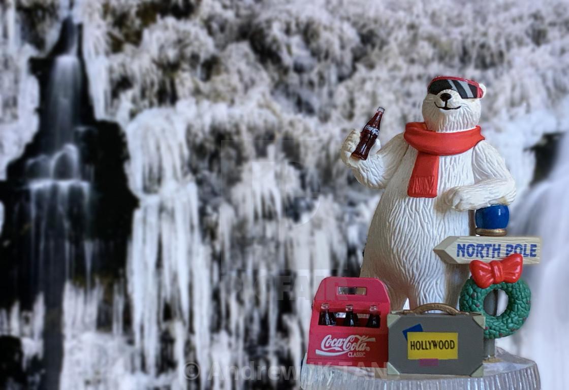 """""""Coca Cola Polar Bear Collectible 03"""" stock image"""