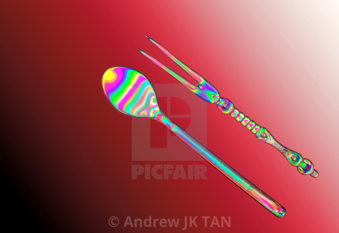 """Polarised Utensils 01"" stock image"