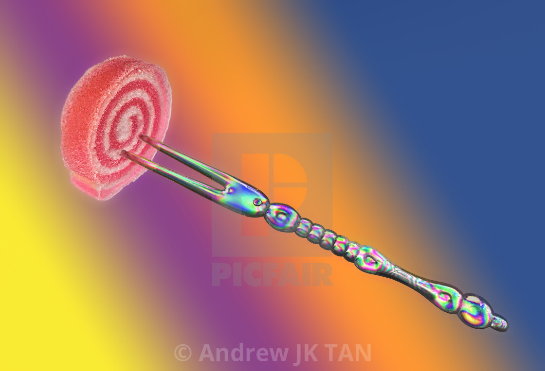 """Fork with Candy 01"" stock image"