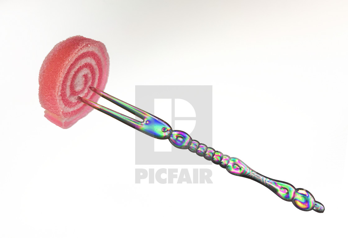 """""""Fork with Candy 02"""" stock image"""