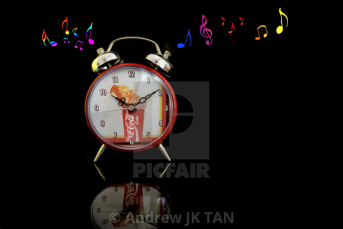 """Coke Clock Collectible"" stock image"