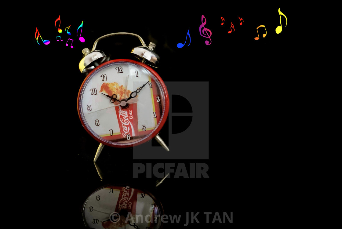 """Dancing Coke Clock Collectible"" stock image"