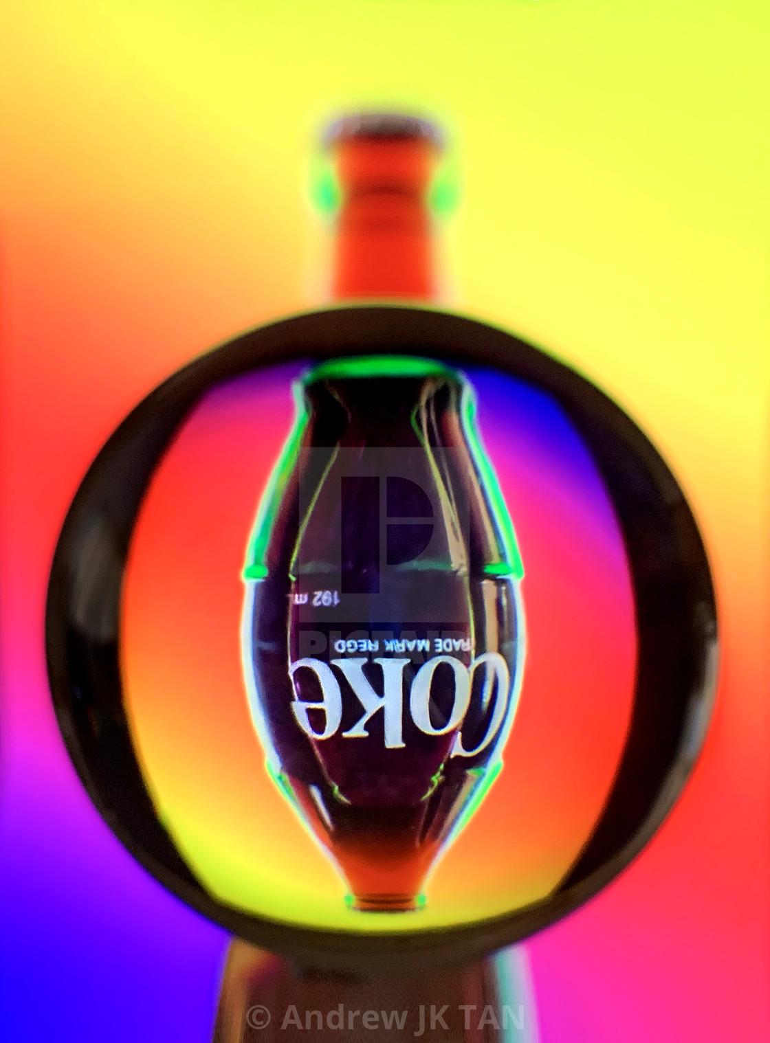 """""""Coke Refraction 01"""" stock image"""