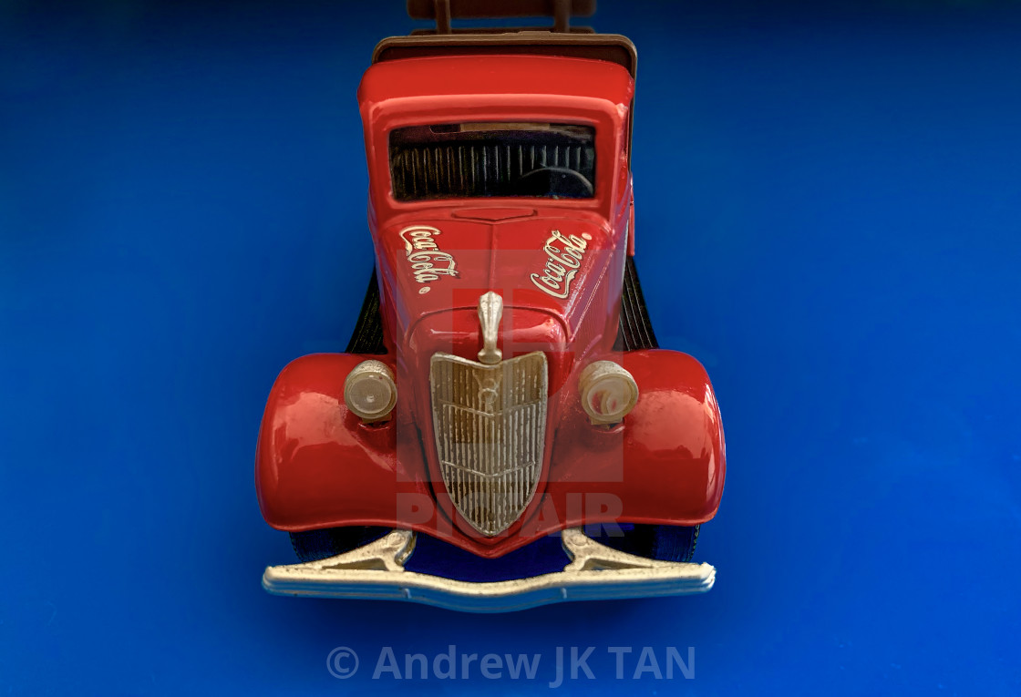 """Red Truck Coke Collectible 01"" stock image"
