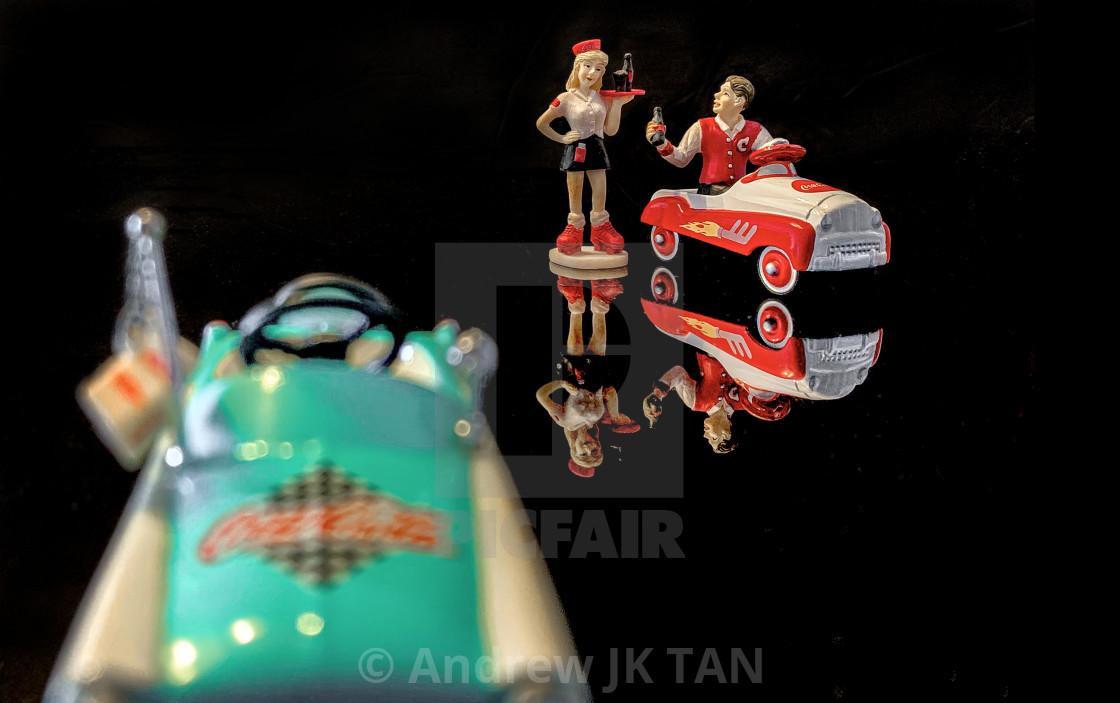 """Waitress Vintage Coke Cars Collectible 01"" stock image"