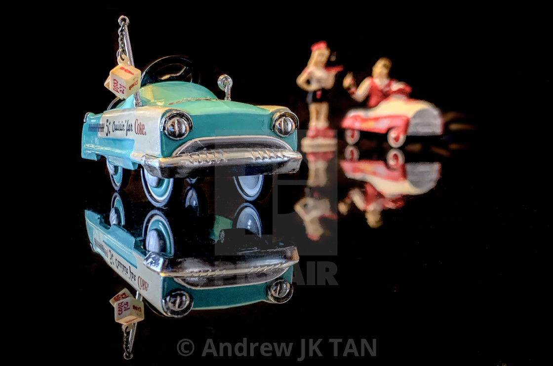 """Waitress Vintage Coke Cars Collectible 02"" stock image"