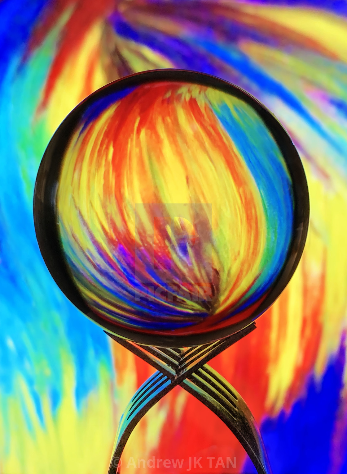 """""""Refraction Abstract 03"""" stock image"""