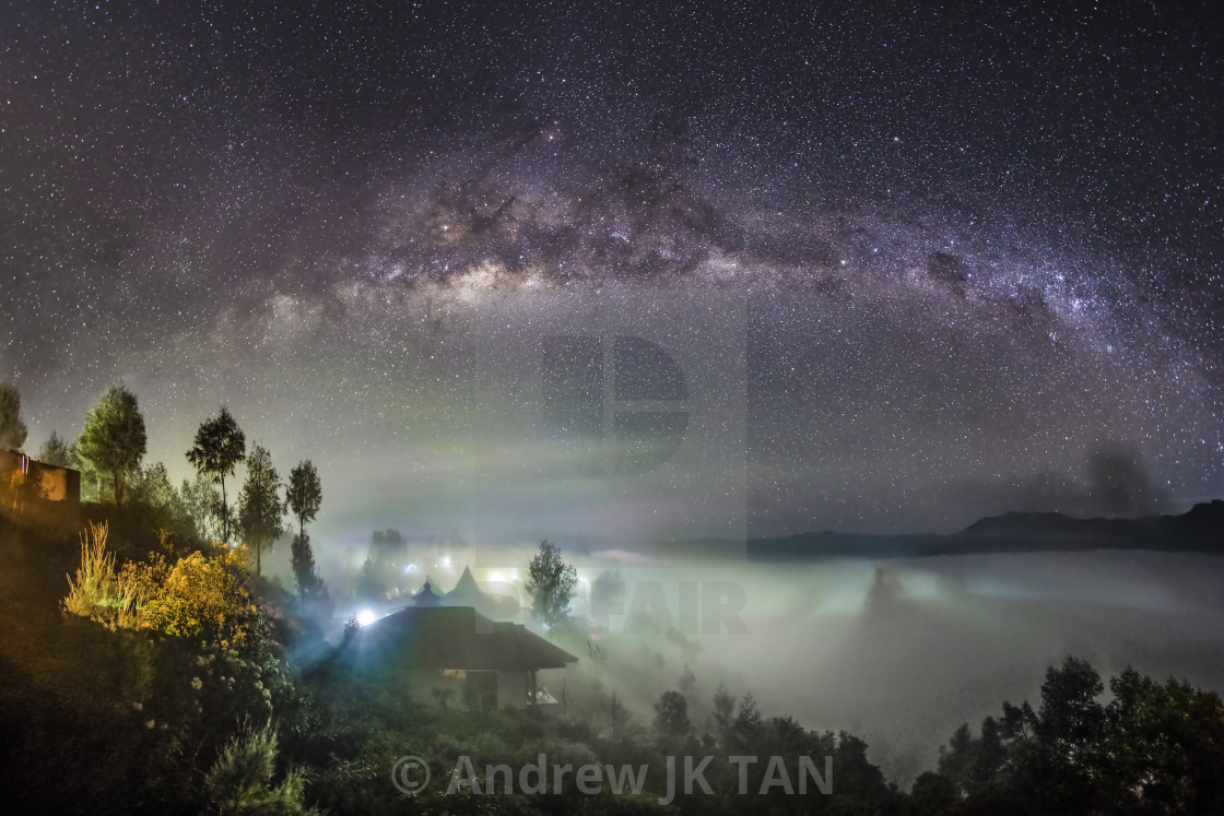 """Milkyway with Sea Clouds"" stock image"