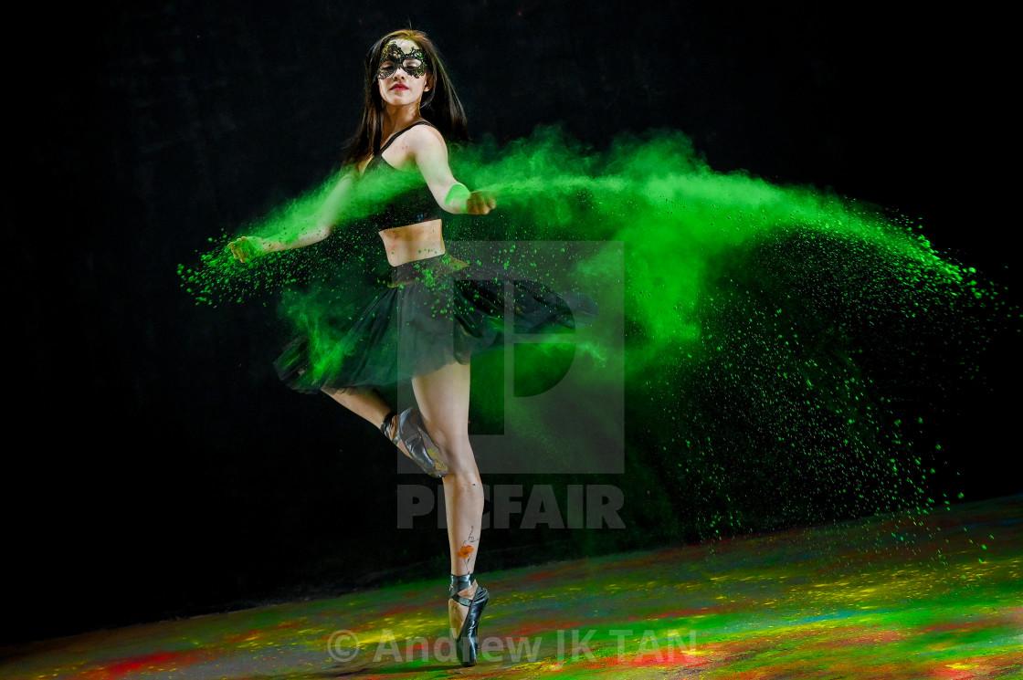 """Masked Ballerina 01"" stock image"