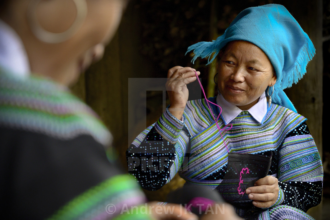 """White Hmong Women 01"" stock image"