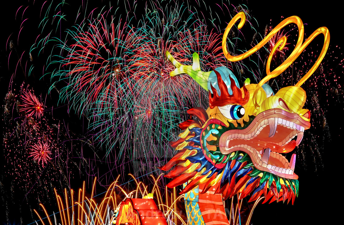 """Year of the Dragon 01"" stock image"