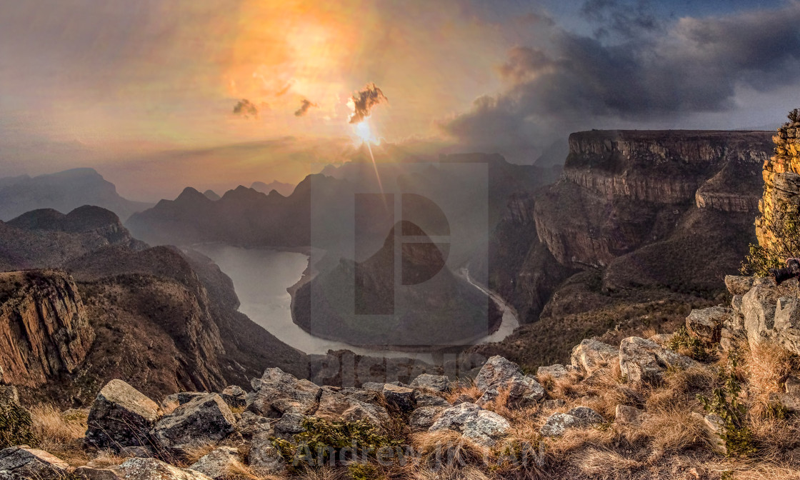 """Blyde River Canyon Sunrise 02"" stock image"