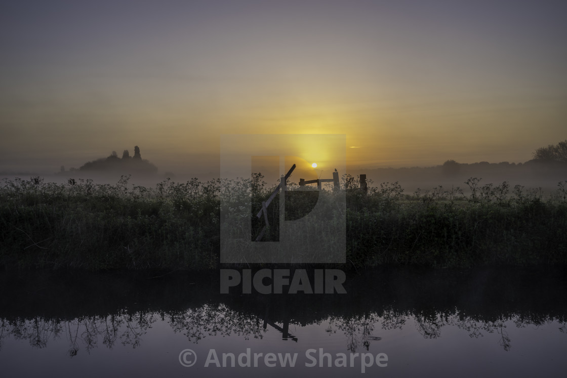 """""""Grantchester Meadows, dawn, 10th May 2017"""" stock image"""