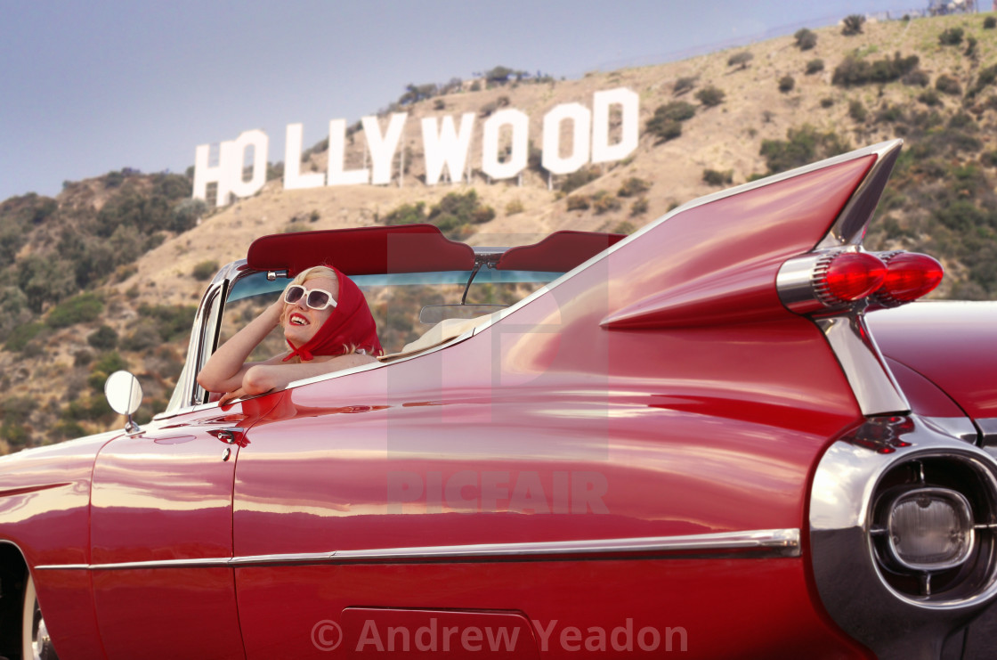 """THE AMERICAN DREAM: To Be Discovered By Hollywood"" stock image"