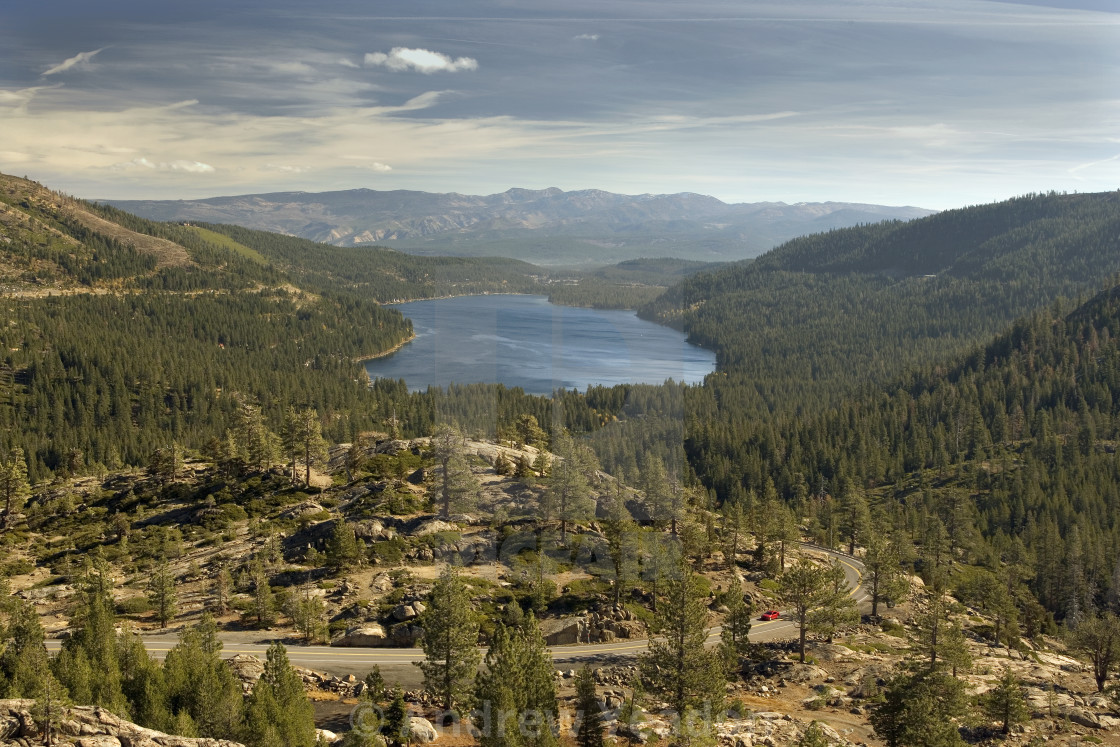 """The Infamous Donner Pass (H)"" stock image"