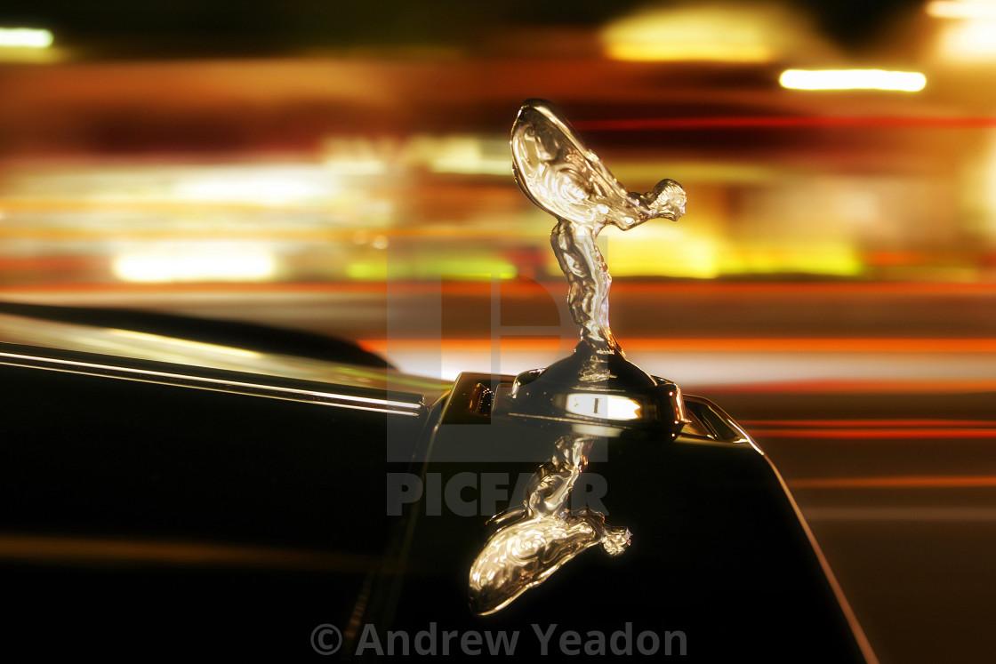"""Symbol of Luxury and Wealth ""Spirit of Ecstasy"" Rolls-Royce"" stock image"