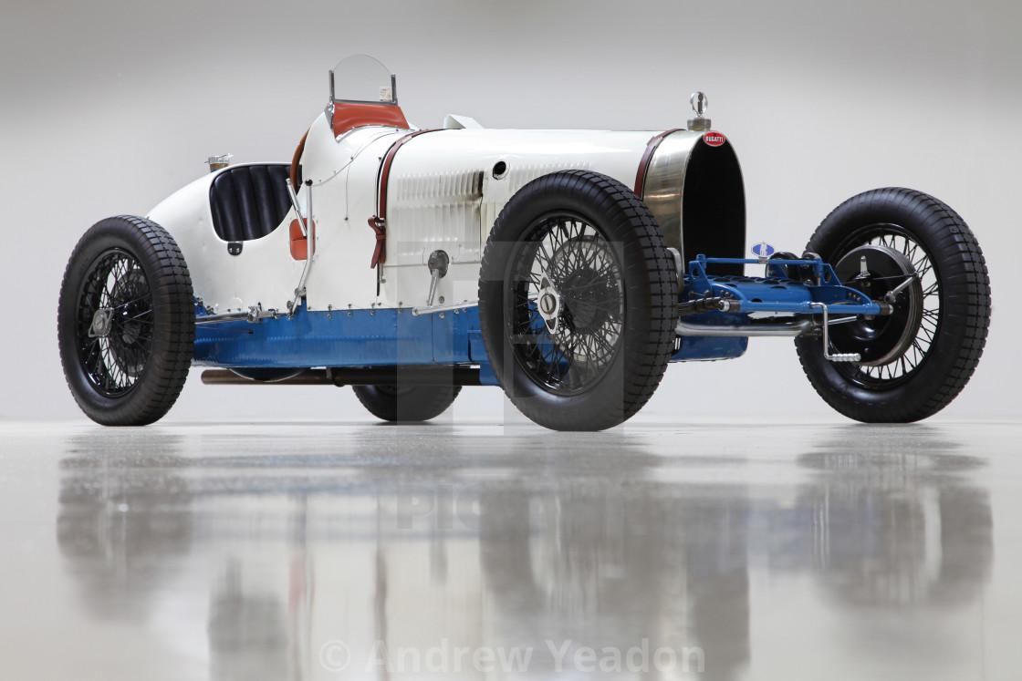 """""""Classic Bugatti Tipo 37A (Studio)"""" stock image"""