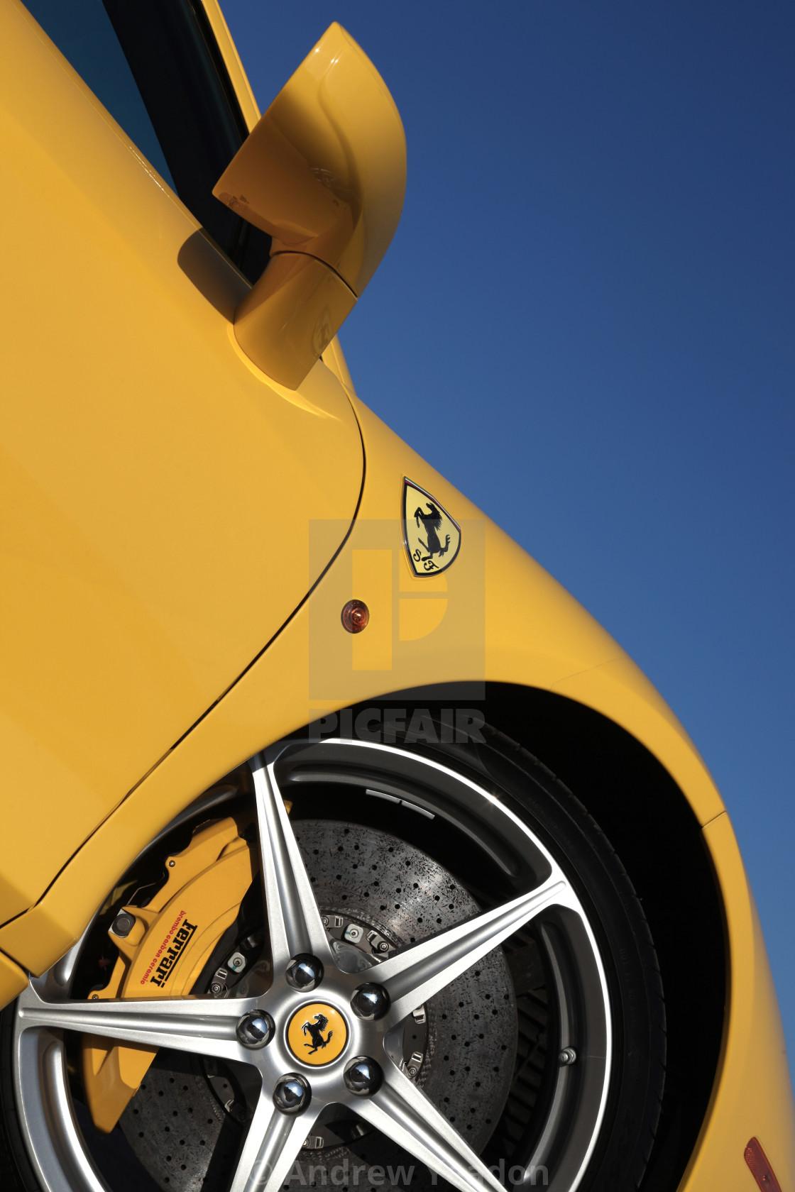 """""""Ferrari 458 Italia (Detail)"""" stock image"""