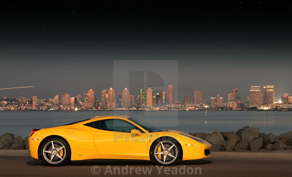 """""""Ferrari 458 Italia in San Diego, CA"""" stock image"""